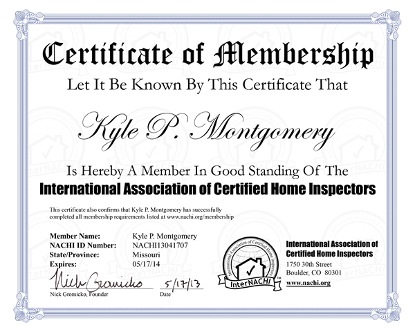 Internachi Home Inspector Certification